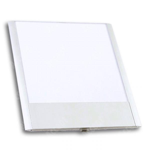ACCEPT Dveřní tabulka Pierrot A5 deLuxe, stříbrná - rozměr tabulky 164x187mm (patka 40mm)