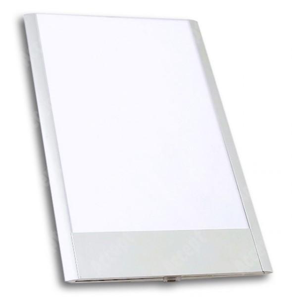 ACCEPT Dveřní tabulka Pierrot A5 deLuxe, stříbrná - rozměr tabulky 164x250mm (patka 40mm)