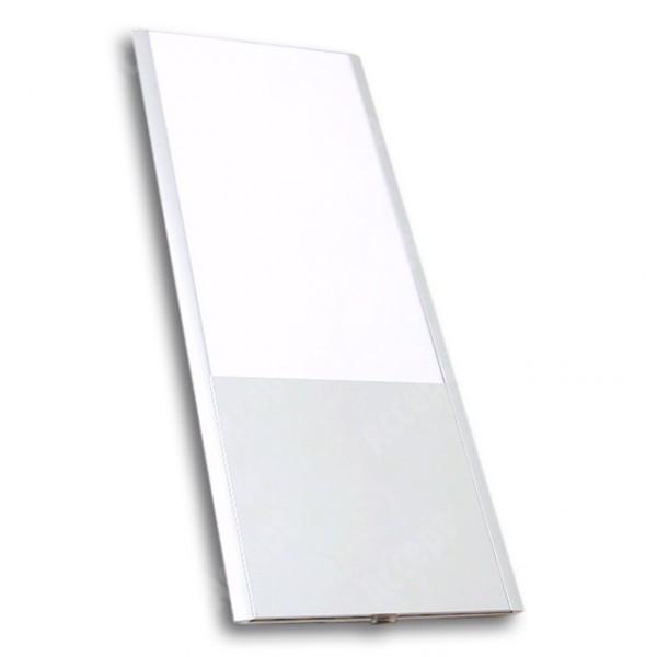 ACCEPT Dveřní tabulka Pierrot A5 deLuxe, stříbrná - rozměr tabulky 164x300mm (patka 100mm)