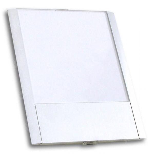 ACCEPT Dveřní tabulka Pierrot A6 deLuxe, stříbrná - rozměr tabulky 121x148mm (patka 40mm)