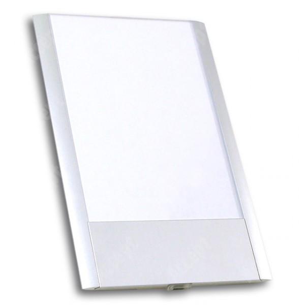 ACCEPT Dveřní tabulka Pierrot A6 deLuxe, stříbrná - rozměr tabulky 121x187mm (patka 40mm)