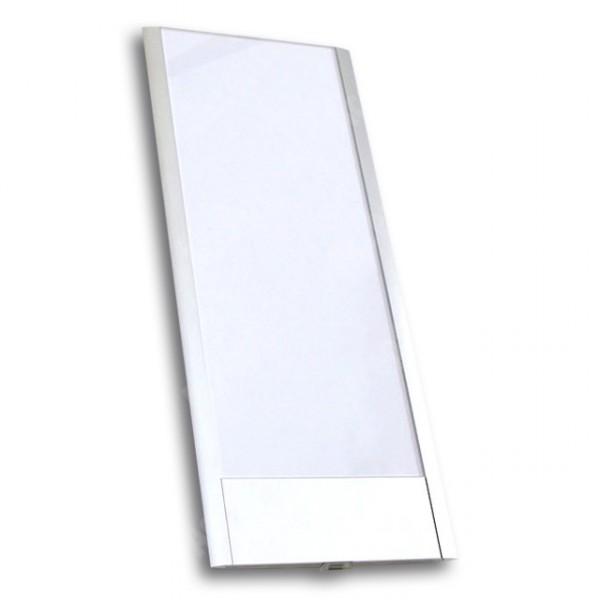 ACCEPT Dveřní tabulka Pierrot A6 deLuxe, stříbrná - rozměr tabulky 121x297mm (patka 40mm)