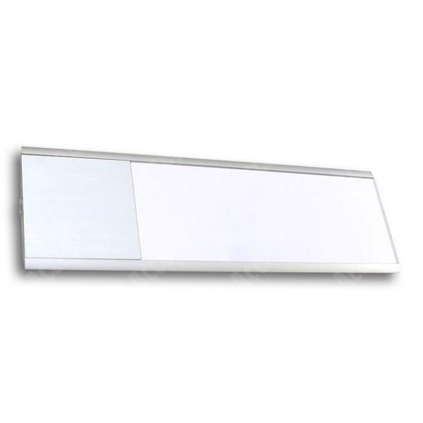 ACCEPT Dveřní tabulka Pierrot A6 deLuxe, stříbrná - rozměr tabulky 121x397mm (patka 100mm)