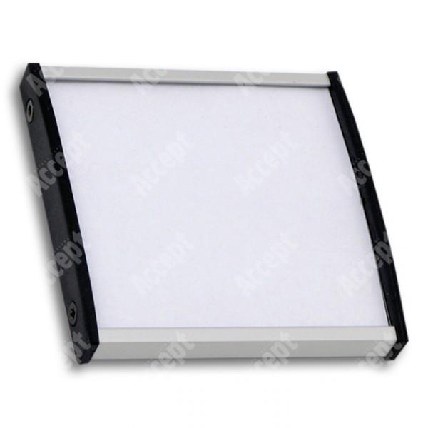 ACCEPT Dveřní tabulka Plato Plus 075, stříbrná - rozměr tabulky 75x75mm