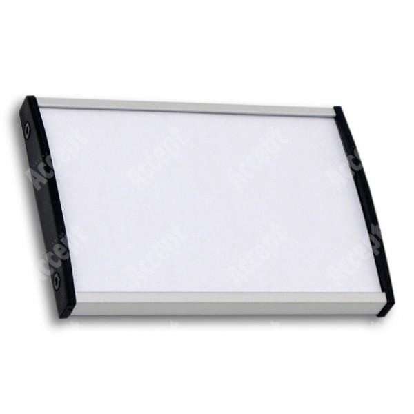 ACCEPT Dveřní tabulka Plato Plus 075, stříbrná - rozměr tabulky 105x75mm (DIN A7)