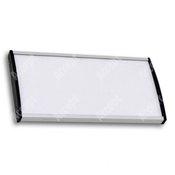 ACCEPT Dveřní tabulka Plato Plus 075, stříbrná - rozměr tabulky 148x75mm