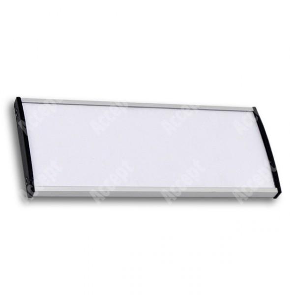 ACCEPT Dveřní tabulka Plato Plus 075, stříbrná - rozměr tabulky 187x75mm