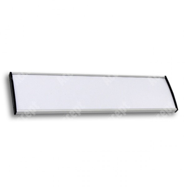 ACCEPT Dveřní tabulka Plato Plus 075, stříbrná - rozměr tabulky 297x75mm