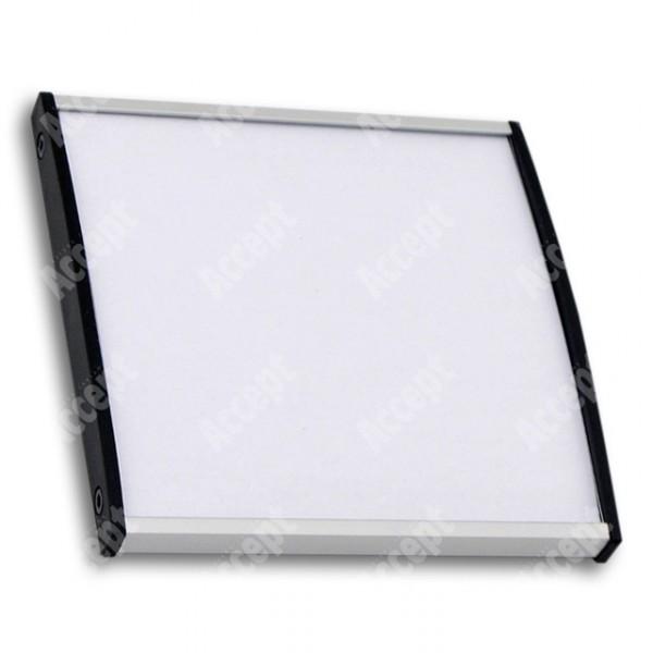 ACCEPT Plato Plus 105, stříbrná - rozměr tabulky 105x105mm