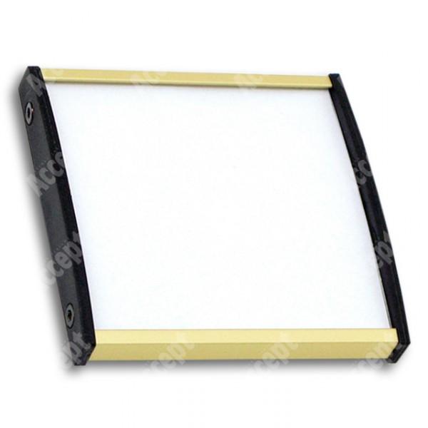 ACCEPT Dveřní tabulka Plato Plus 075, zlatá - rozměr tabulky 75x75mm