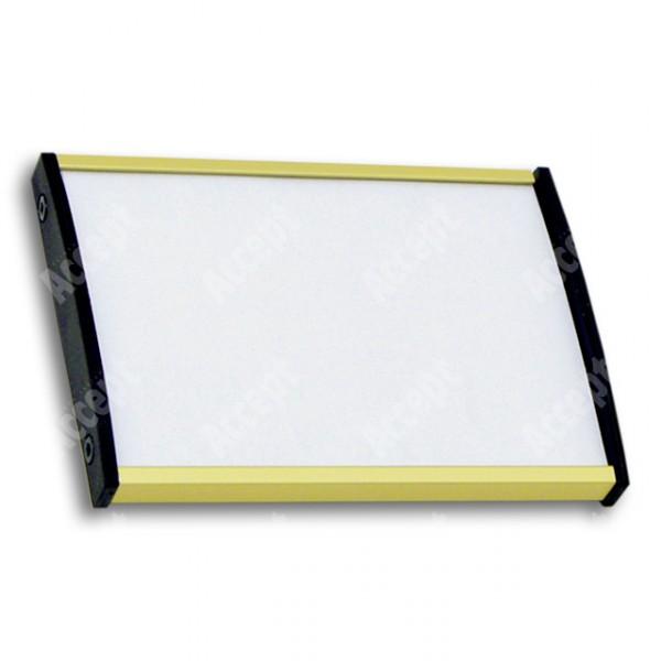 ACCEPT Dveřní tabulka Plato Plus 075, zlatá - rozměr tabulky 105x75mm (DIN A7)