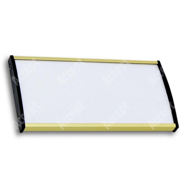 ACCEPT Dveřní tabulka Plato Plus 075, zlatá - rozměr tabulky 148x75mm