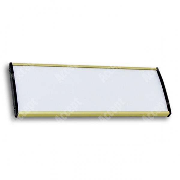 ACCEPT Dveřní tabulka Plato Plus 075, zlatá - rozměr tabulky 210x75mm