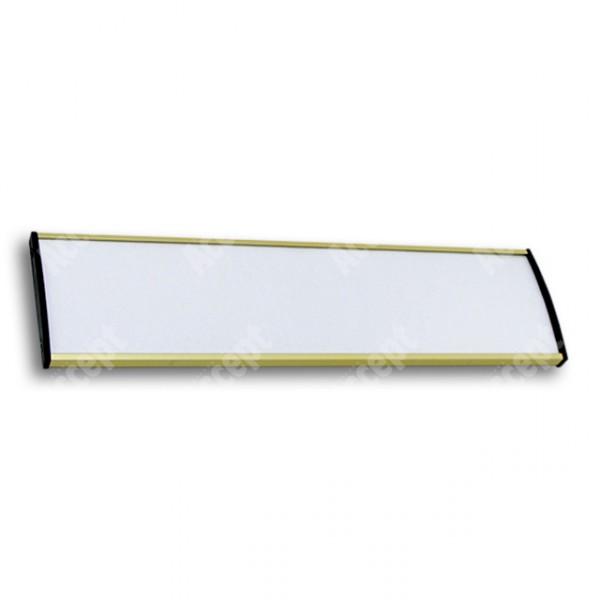 ACCEPT Dveřní tabulka Plato Plus 075, zlatá - rozměr tabulky 297x75mm