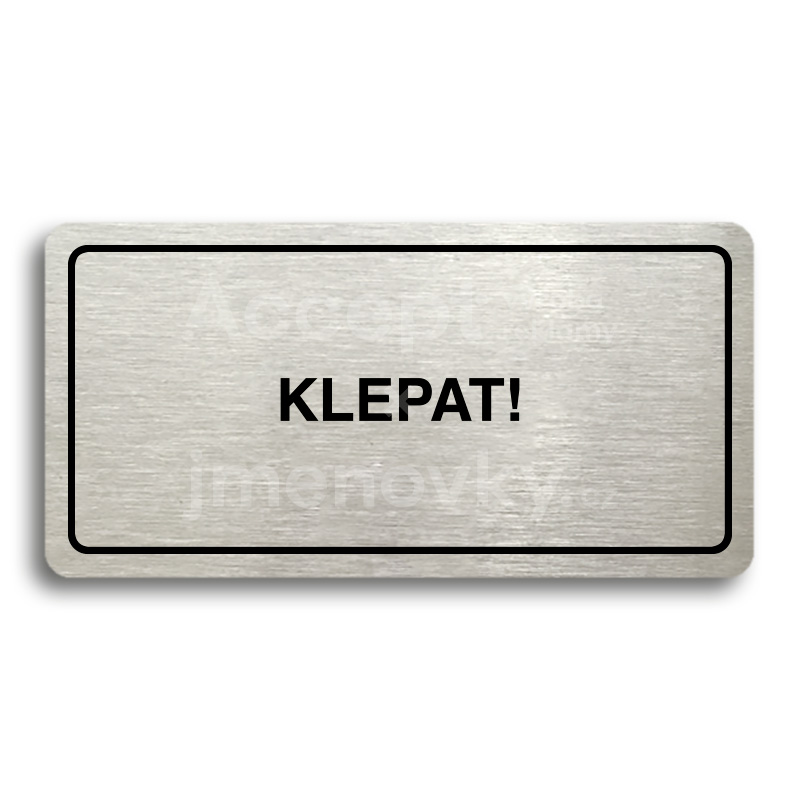 "Piktogram ""KLEPAT!"" (160x80mm)"