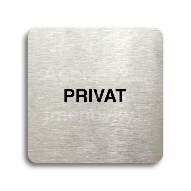 "Piktogram ""privat"" (80 x 80 mm)"