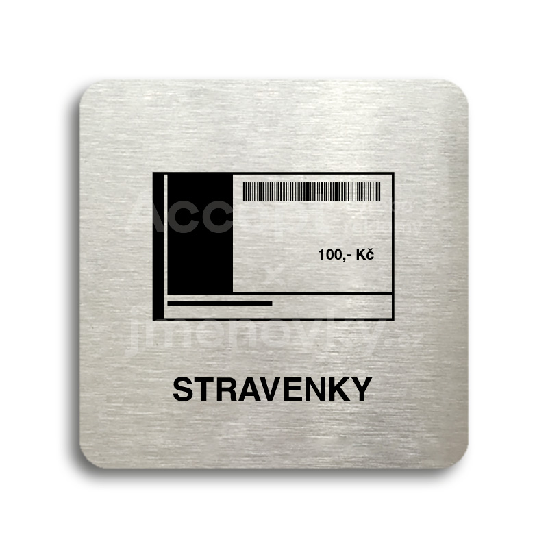 "Piktogram ""stravenky"" (80 x 80 mm)"