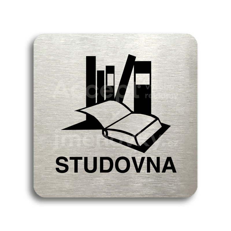 "Piktogram ""studovna"" (80 x 80 mm)"