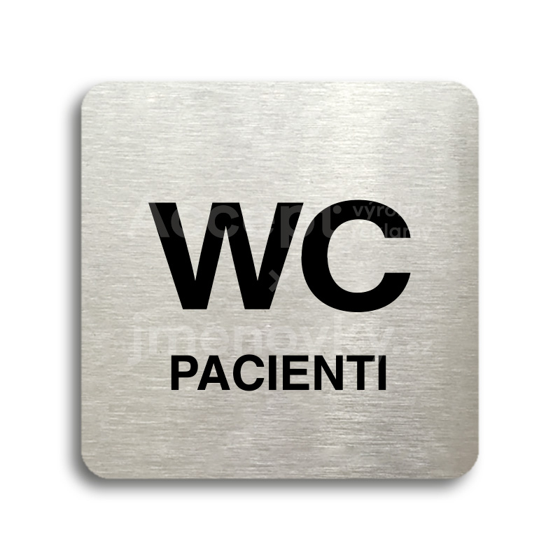 "Piktogram ""WC pacienti"" (80 x 80 mm)"