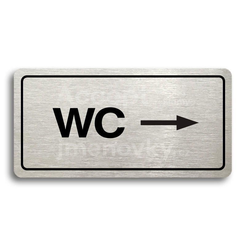 "Piktogram ""WC VPRAVO"" (160 x 80 mm)"