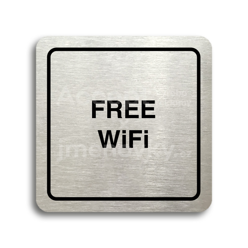 "Piktogram ""free WiFi"" (80 x 80 mm)"