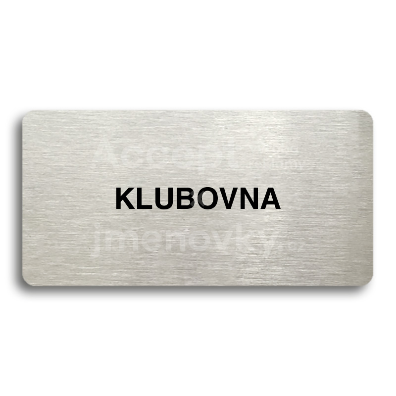 "Piktogram ""KLUBOVNA"" (160 x 80 mm)"