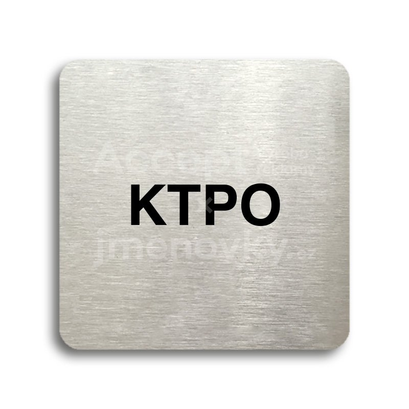 "Piktogram ""KTPO"" (80 x 80 mm)"