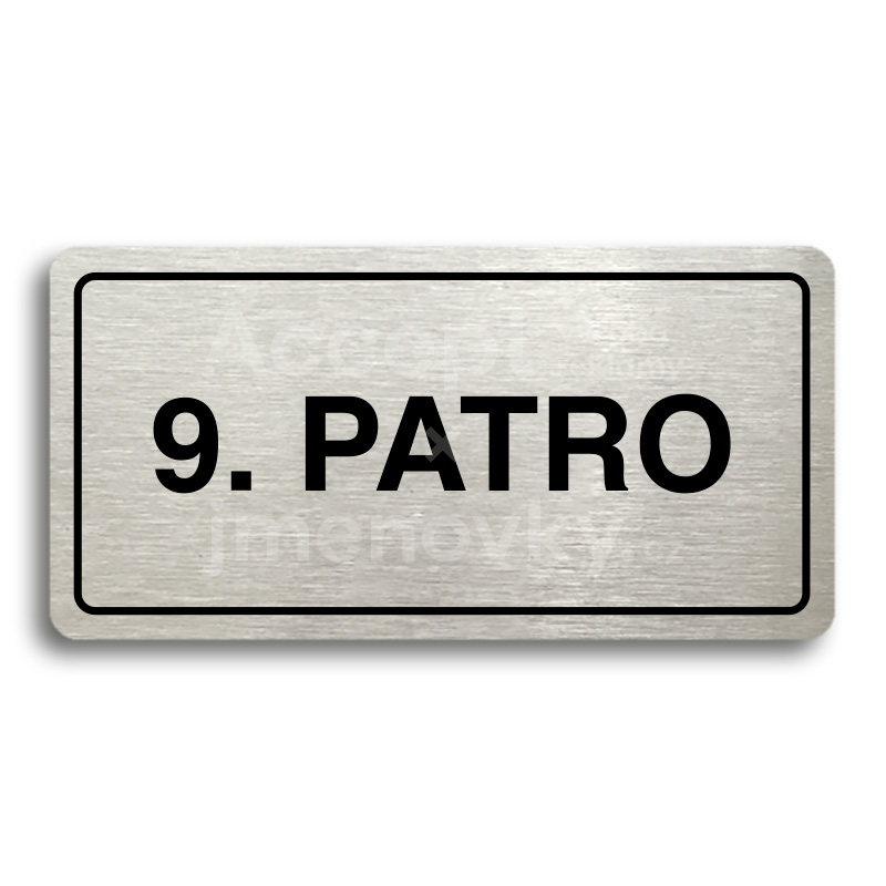 "Piktogram ""9. PATRO"" (160 × 80 mm)"