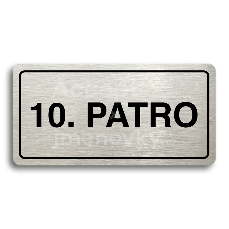 "Piktogram ""10. PATRO"" (160 × 80 mm)"
