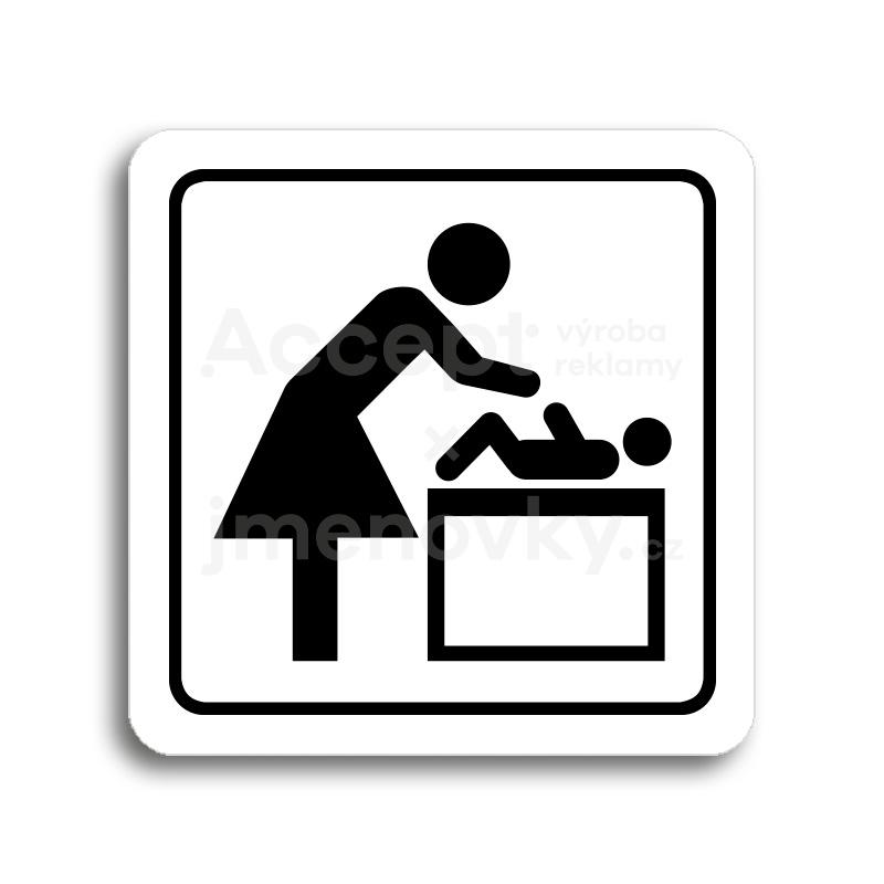 ACCEPT Piktogram přebalovací pult - bílá tabulka - černý tisk