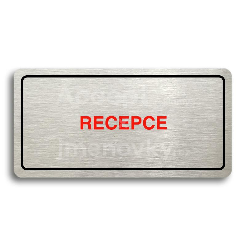 ACCEPT Piktogram RECEPCE - stříbrná tabulka - barevný tisk