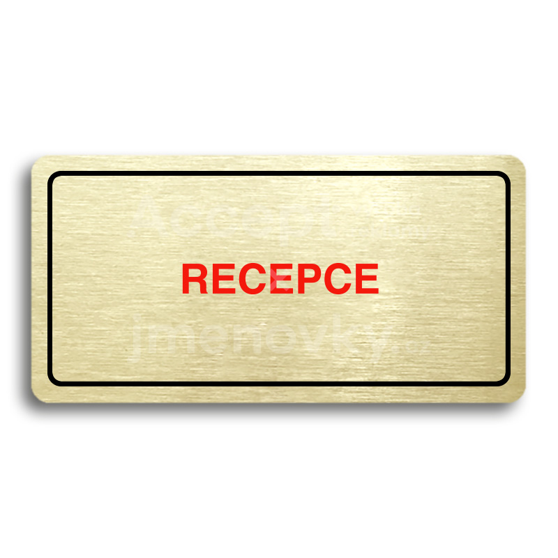 ACCEPT Piktogram RECEPCE - zlatá tabulka - barevný tisk