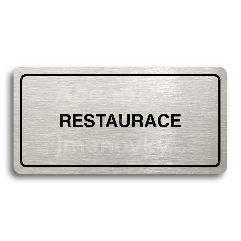 "Piktogram ""RESTAURACE"" (160 x 80 mm)"