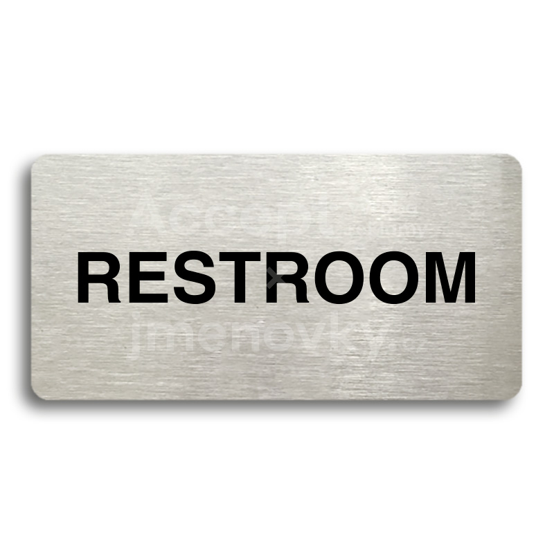 "Piktogram ""RESTROOM"" (160 x 80 mm)"