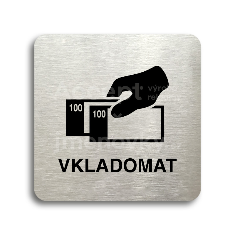 "Piktogram ""vkladomat"" (80 x 80 mm)"