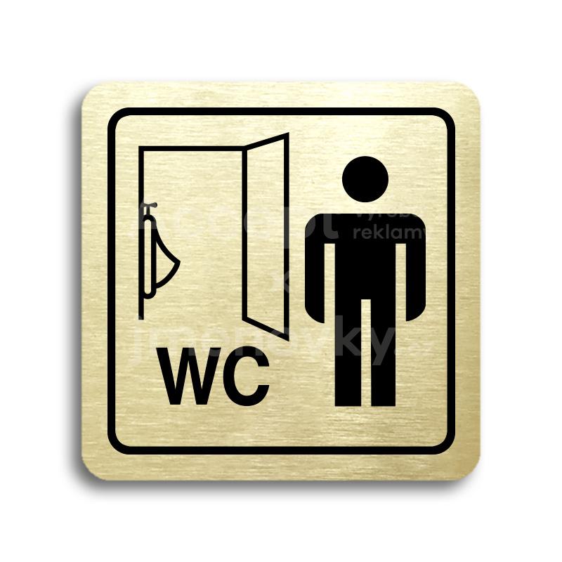 ACCEPT Piktogram WC muži pisoár - zlatá tabulka - černý tisk