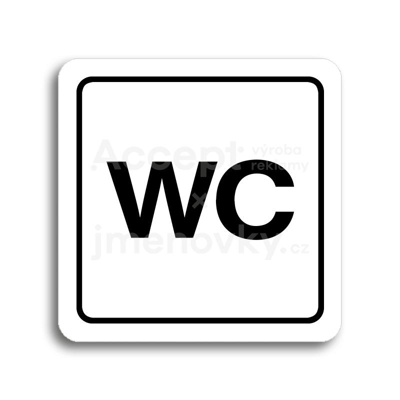 ACCEPT Piktogram WC - bílá tabulka - černý tisk