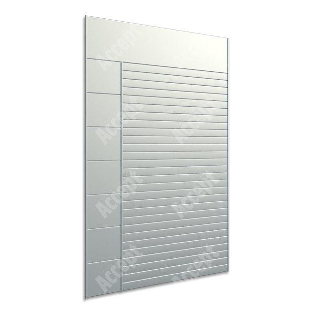 ACCEPT Hlavní orientační tabule ACS 009 (612 x 1031 mm) - stříbrná tabule