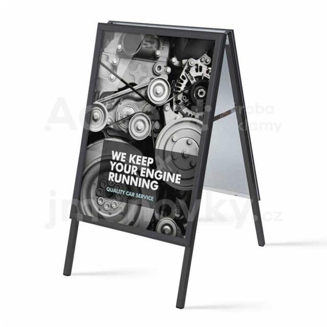 ACCEPT reklamní áčko A1 (profil 32 mm, černá) - ostré rohy